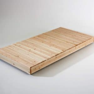 4X8 CEDAR DOCK KIT ASSEMBLED - TOP VIEW