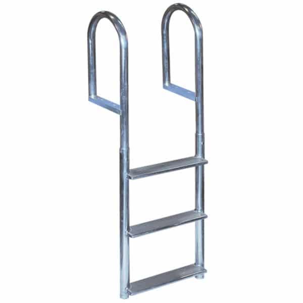 3 step aluminum dock ladder - wide