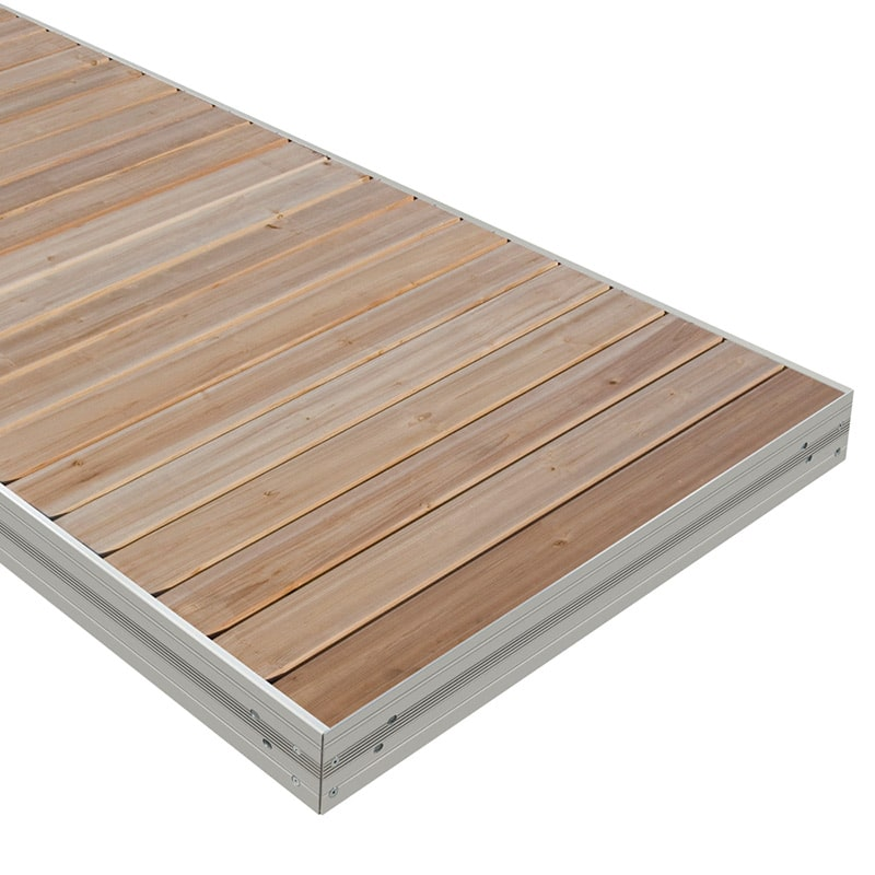 Aluminum Dock Section with Cedar Decking