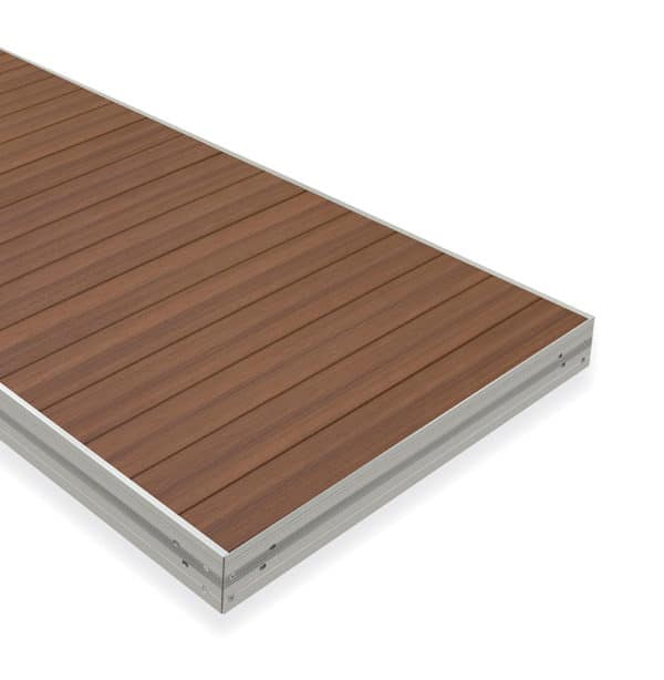 Aluminum dock section with Genova PVC decking