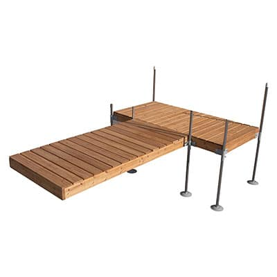 12' T-Shaped Cedar Dock