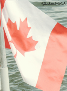 Canadian Flag at the Lake