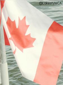 Canadian Flag at the Lake