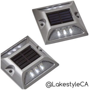 Lakestyle's Solar Stud LED Dock Lights